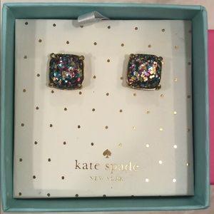 Kate Spade Muticolor Rainbow Square Earrings Studs